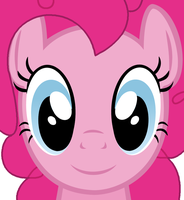 Pinkie Pie Face (Vector) by MaybyAGhost