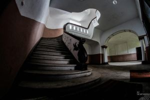 Staircase of brown and white #2 by no-trespassing