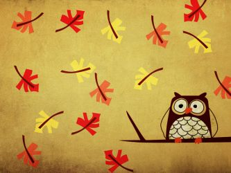 Fall... what a Hoot by v-collins