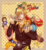 Happy birthday Sanji by aksus