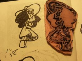 Connie - Steven Universe - Stamp by Puddincakes
