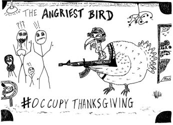 Occupy Thanksgiving cartoon by amazingn3ss
