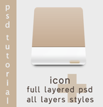 Drive Icon + Psd by panoramix-