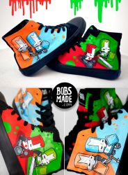 Castle Crashers Shoes by Bobsmade