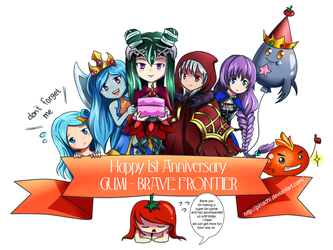 Happy 1st Anniversary Brave Frontier by pinachi