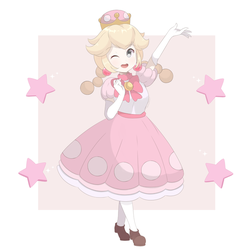 Super Mario Bros - Princess Peachette by chocomiru02