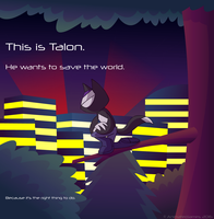 Talon is Off Saving the World by AnimatedJames