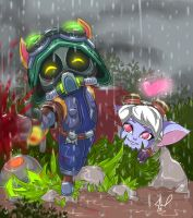 Teemo And Tristana lol by JamilSC11