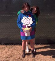 Chara + Frisk (A-kon 27) by lost-lillith