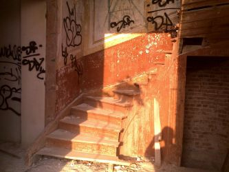 Creepy old stairs by bagger288