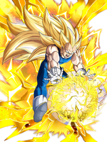 Super Saiyan 3 Vegeta Super Final Flash by HazeelArt