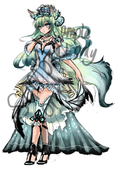 Ice Wolf Princess Open For Auction (CLOSED) by shrimpHEBY