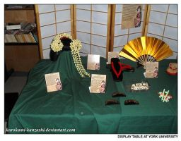 Display Table at York U I by Kurokami-Kanzashi