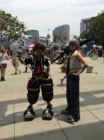 Kingdom Hearts II Sora and Riku Cosplay by ViviSaphira