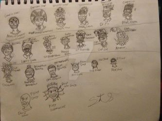 {PvZ} Zombie Character collection (Head Busts) by StantheSpider