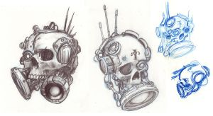 Dark Heresy Servo Dampener Sketches by cronevald