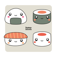 Chibi Japanese Food by Daieny