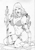 Red Sonja Ink by leonartgondim