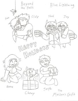 Christmas Sketches by DBJay