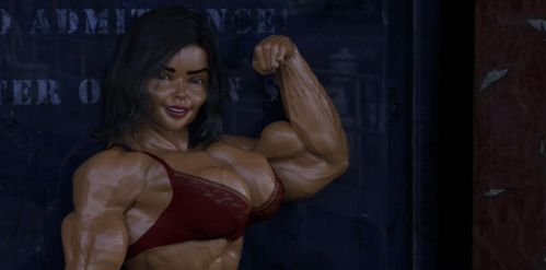 Girl bodybuilder 2 by TheRedCrown