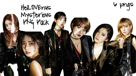 Hello Venus PNG Pack Mysterious Black by SS by soshistars