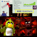 OMG 400 Watchers!!!! (Epic Celebratory GIF) by gold94chica