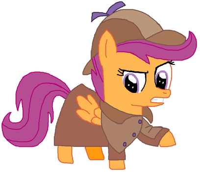 Special Artwork 2018 No 3 - Detective Scootaloo by ThomasZoey3000