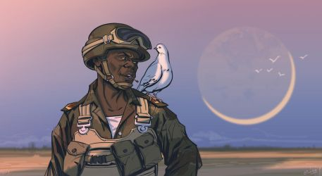 Soldier Vs Dove by Erlson
