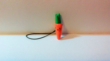 Kawaii carrot phone charm by TotallyUnspoken