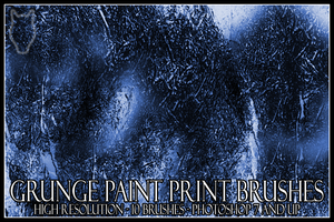 Grunge Paint Print Brushes by dementeddingo