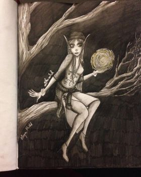 The witch : Lailaith (Chimere est fleur) by Aleyn-Kidd
