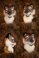 Saber toothed Cat head by temperance