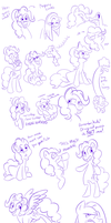 A whole mess of Pinkie Pies by Dynamo-Deepblue