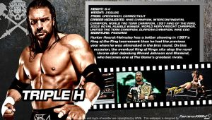 WWE Triple H ID Wallpaper Widescreen by Timetravel6000v2