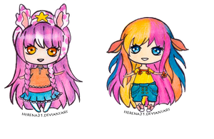 Commission Mini-Pagedoll : Fea and Georgia by Herena21