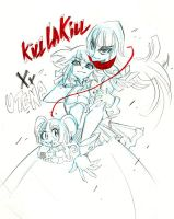 Crossover Kill la Kill Utena by Rafchu