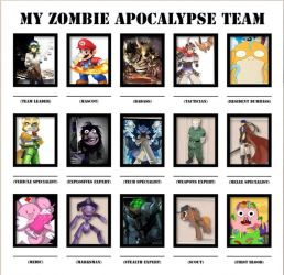 Zombie team by Angeyzombeh