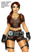 Lara Croft Tomb Raider Colour by roelworks