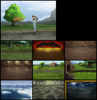 RPG Primer Game Backgrounds by Stinkehund