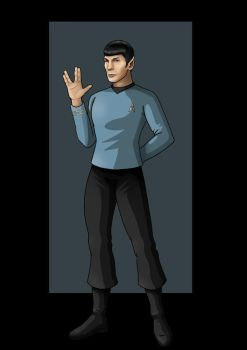 mr. spock (live long and prosper) by nightwing1975