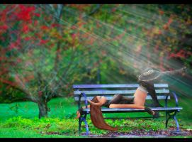 Relaxing in the Park by scorpioevil