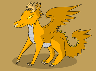 *Open* Orange Crush Wolf Dragon 15 point Adoptable by CreativeStorm1