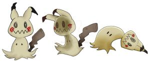 these are totally pikachus what is even a mimmikyu by ColeSuave