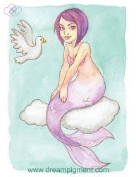 Cloud Mermaid - MerMonday June 11th 2018 by DreamPigment