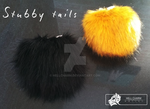 Stubby fursuit tails - FOR SALE by HellCharm