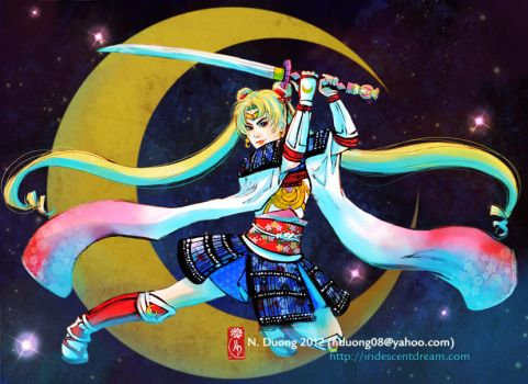 Samurai Sailor Moon by lilsuika
