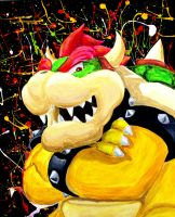 King Bowser by reklesskelly