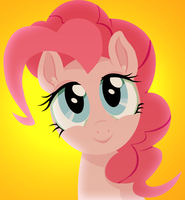 Pinkie Pie smiling by mywatercolorheart