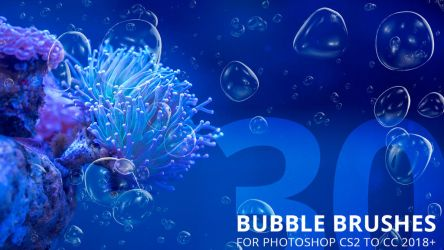 30 Bubble Brushes for Photoshop by Lyova12