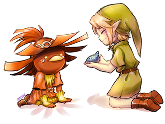 majora's mask -- Skullkid And Link by onisuu